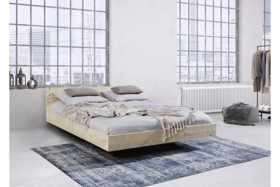 houten bed zwevend bedombouw